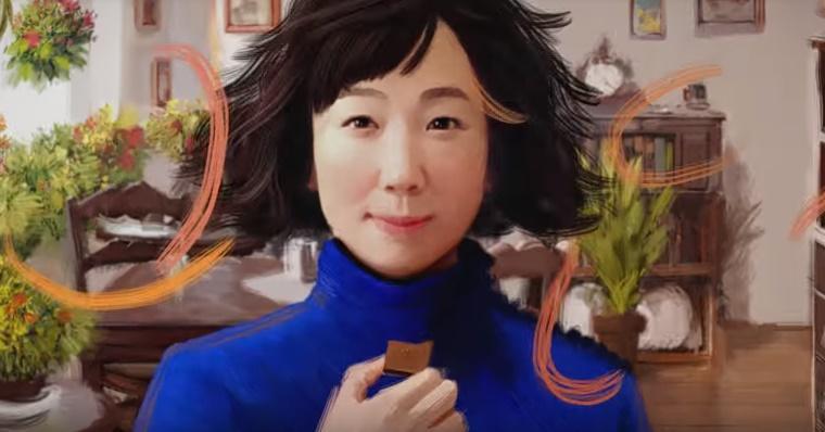 シャルロッテCMの女性は誰?チョコを食べる青いセータの女の子が気になる!