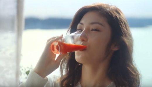 リコピンリッチCMの女優は誰?美味しそうにトマトジュースを飲む女性モデルが美人!