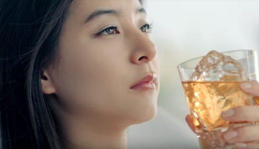 午後の紅茶CMの女優は誰?紅茶をウイスキー風に飲む黒髪ロングヘアーの女性が美人!